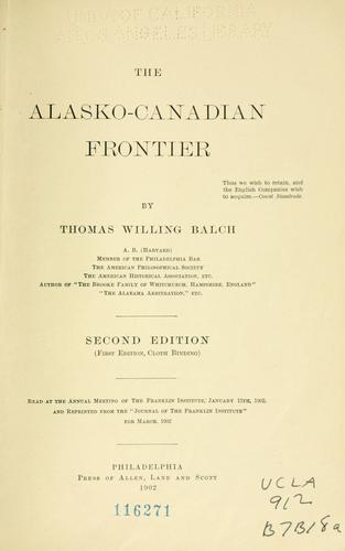 The Alasko-Canadian frontier