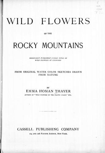 Download Wild flowers of the Rocky Mountains