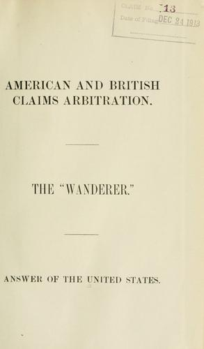 American and British claims arbitration.
