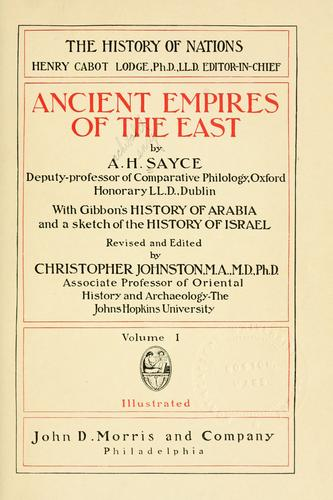 Download Ancient empires of the East
