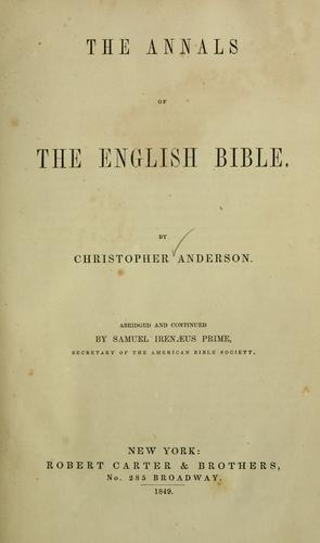 Download The annals of the English Bible …