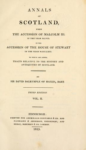 Annals of Scotland