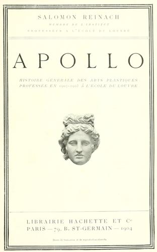 Apollo by Salomon, Louis Rev.