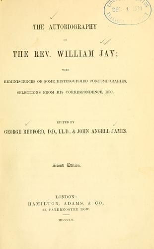 Download The autobiography of the Rev. William Jay
