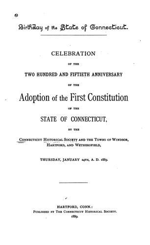 Birthday of the State of Connecticut.
