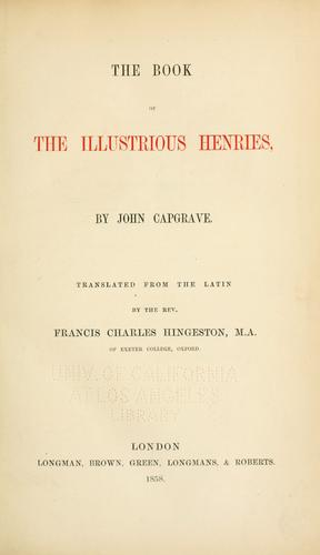 Download The book of the illustrious Henries