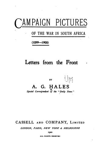 Download Campaign pictures of the war in South Africa (1899-1900)