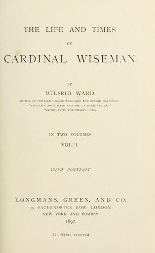 Download The life and times of Cardinal Wiseman