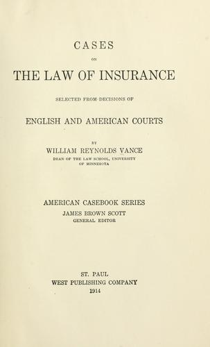 Download Cases on the law of insurance
