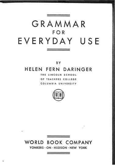 Grammar For Everyday Use
