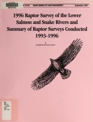 1996 raptor survey of the lower Salmon and Snake Rivers and summary of raptor surveys conducted 1993-1996 by Jay Shepherd