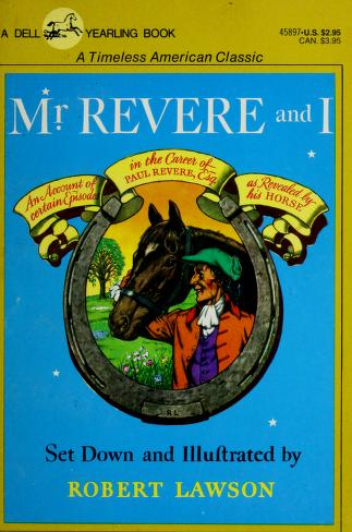Cover of: Mr Revere & I by Robert Lawson