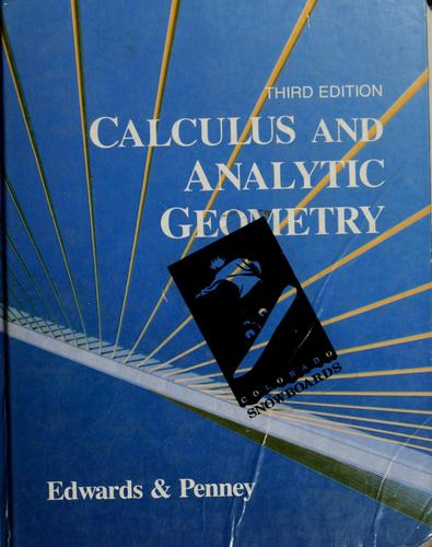 Calculus and analytic geometry by C. H. Edwards