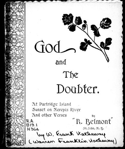 God and the doubter by Hatheway W. Frank