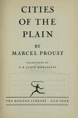 Cities of the plain by Marcel Proust
