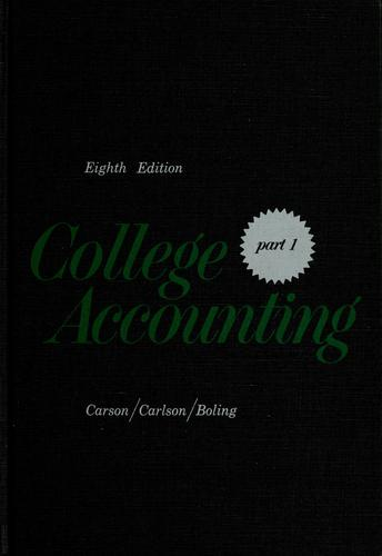 College accounting by A. B. Carson