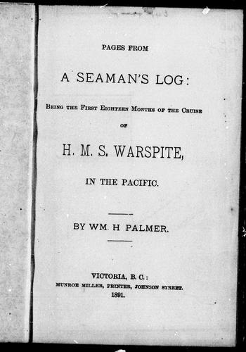 Pages from a seaman's log by William H. Palmer
