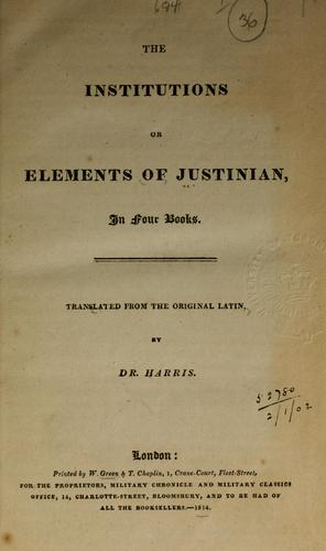 The institutions, or elements