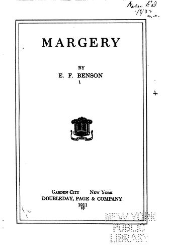 Margery by Edward Frederic Benson