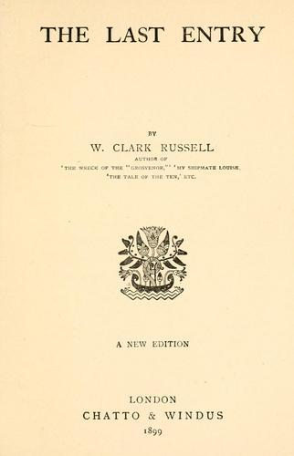 The last entry by William Clark Russell