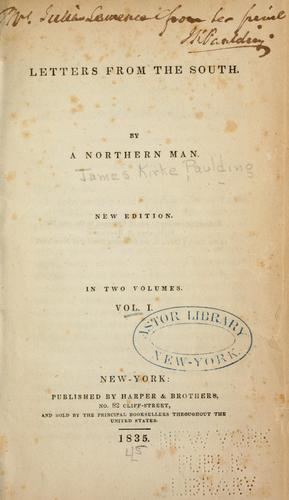 Letters from the South by Paulding, James Kirke