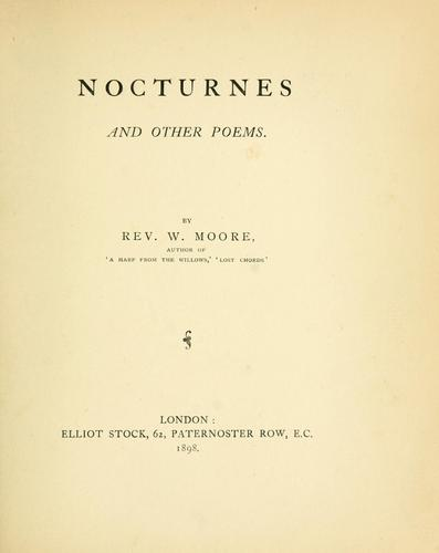 Nocturnes and other poems by William Moore