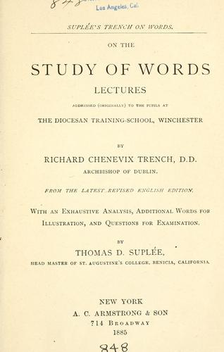 On the study of words by Richard Chenevix Trench