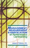Management, Measurement & Verification of Performance Contracting