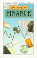 A Dictionary of Finance (Oxford Reference) by Market House Books