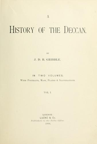 A history of the Deccan.