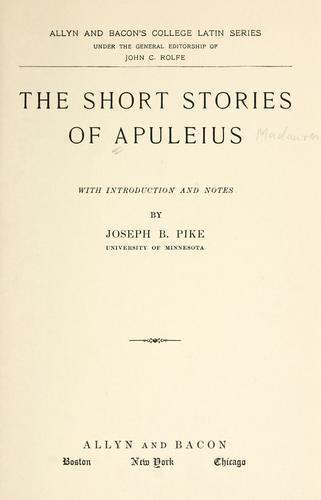 The short stories of Apuleius by Apuleius