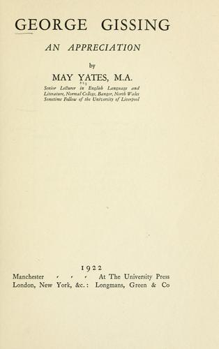 George Gissing by May Yates