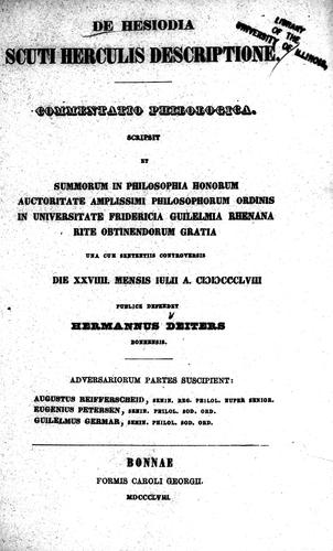 De Hesiodia scuti Herculis descriptione by Hermann Deiters